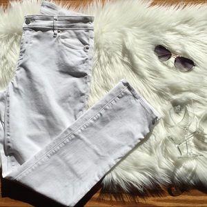 LOFT Curvy Straight Denim Jeans in White